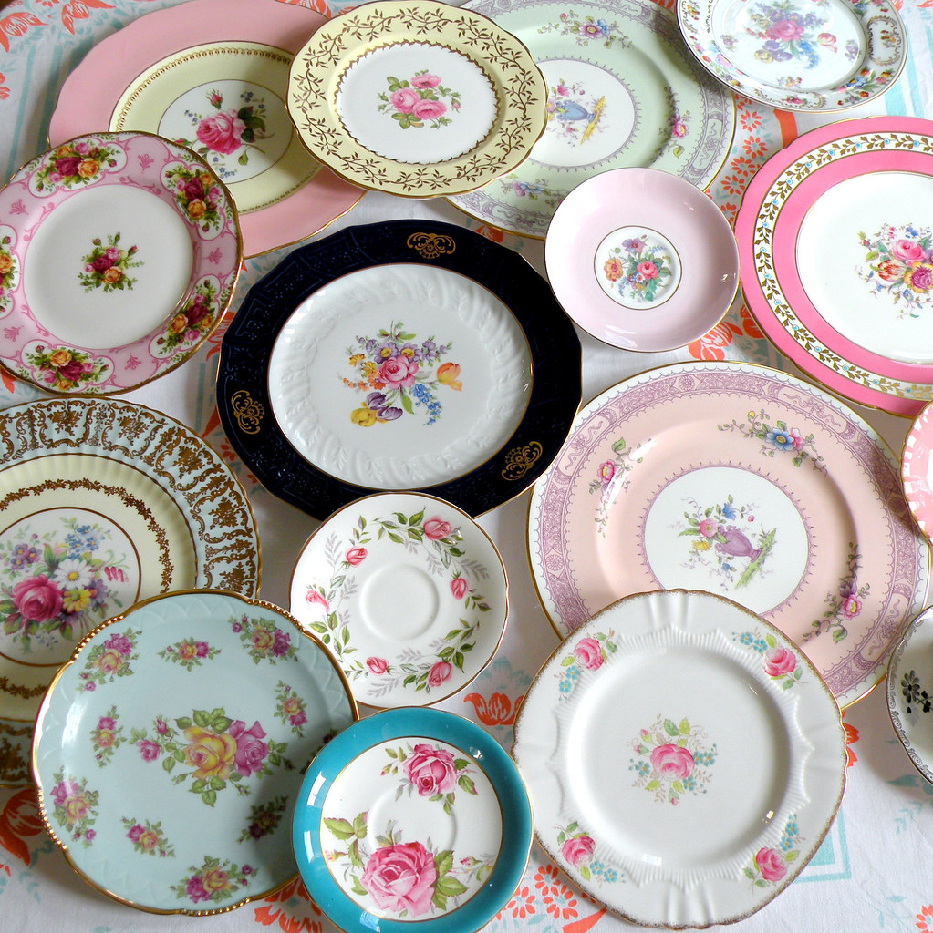 vintage European china plates | A glimpse at our private col… | Flickr