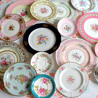 vintage European china plates | by highteaforalice