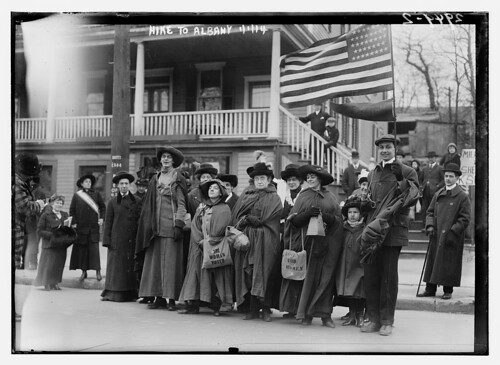 Suffrage hike to Albany, 1/1/14  (LOC) | by The Library of Congress