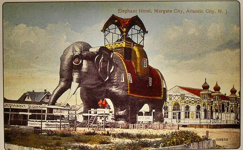 1910s Margate City New Jersey Shore Lucy The Elephant Vint