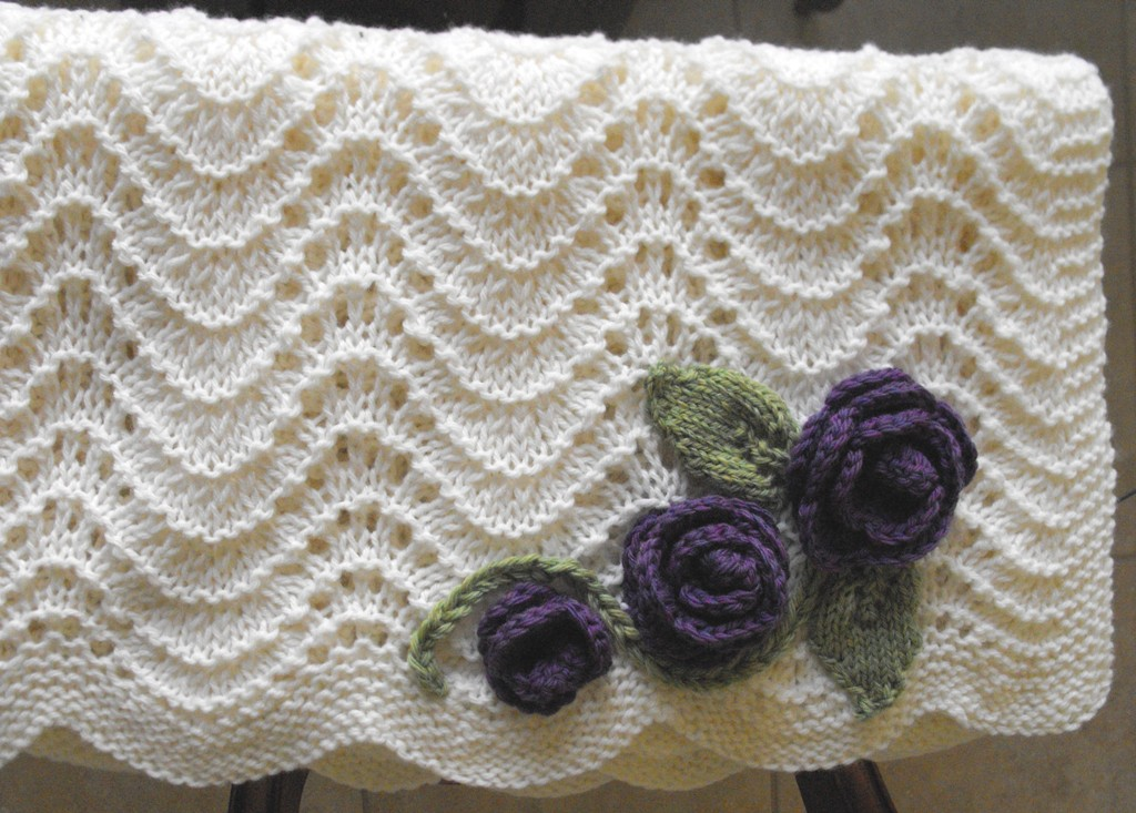 Feather Fan Lace Blanket With A Little Embellisment Flickr
