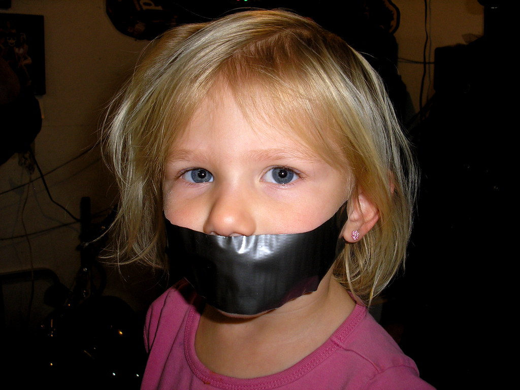 Little Kid Tied Up Gagged