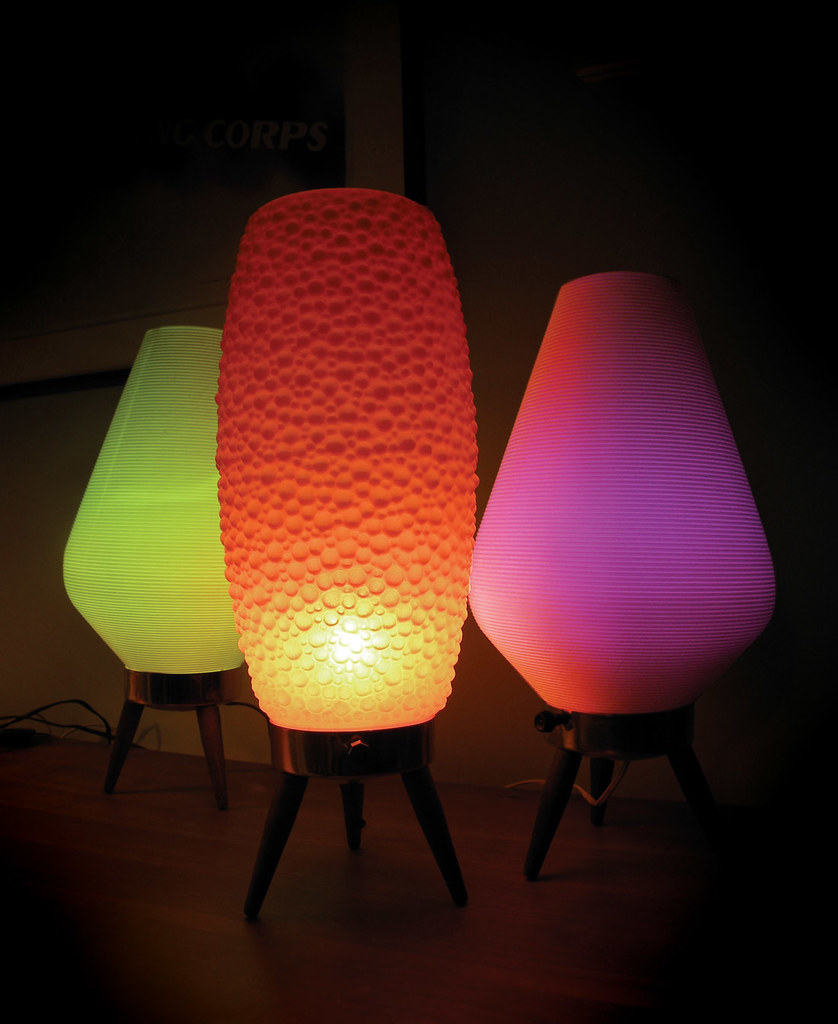 Beehive Light Fixture: 60's 'beehive' Tripod Lamps