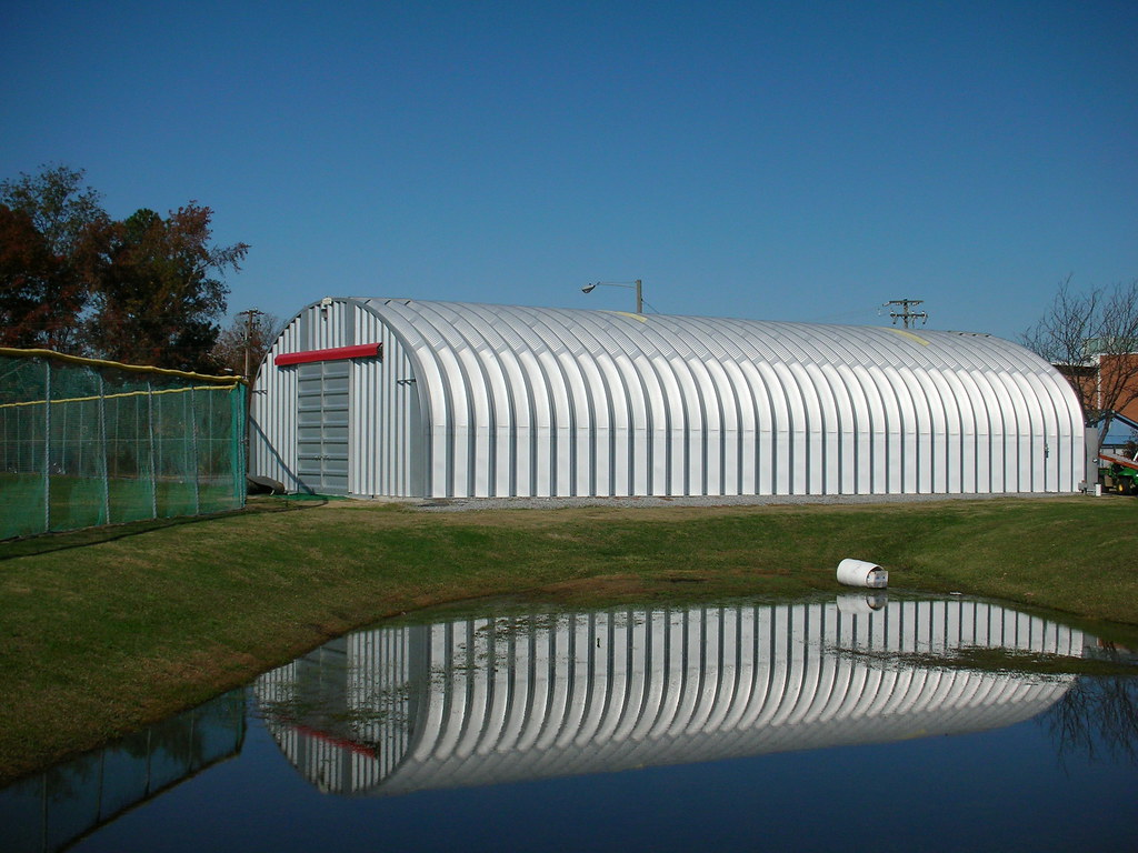 Metal Shelters For Batting Cage : Steelmaster steel indoor batting cages s model
