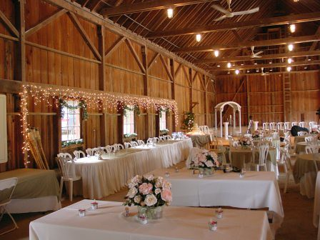 Pavilion Decorated For Wedding Reception Renter Is Using