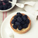 Lemon & Lime Tart with Fresh Blackberries