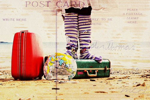 bench monday: post card from the traveling socks. | by kristin~mainemomma