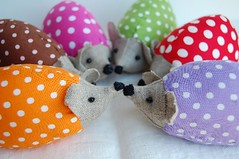 Polkadot Hedgehogs | by minoridesign