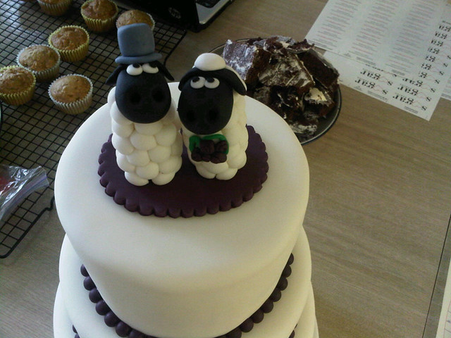 sheep cake toppers for a bride who collects sheep catherine flickr. Black Bedroom Furniture Sets. Home Design Ideas