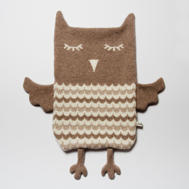 Owl Hot Water Bottle Cover Knitting Pattern : Beryl the Owl Hot Water Bottle Cosy Knitted lambswool hot ? Flickr
