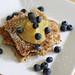 pan-seared irish oats and blueberries