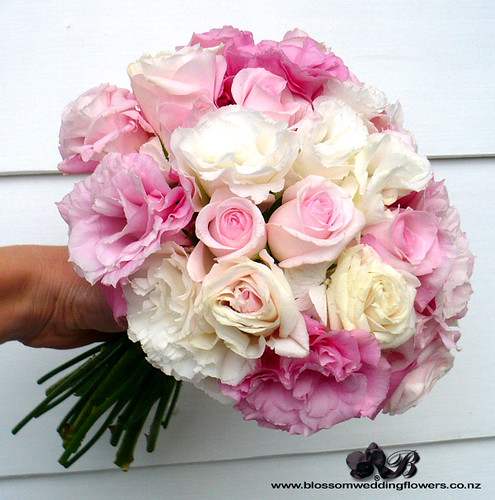 pink flower bouquets for weddings 2 pink lisianthus hydrangea bridal bouquet using pale 6580