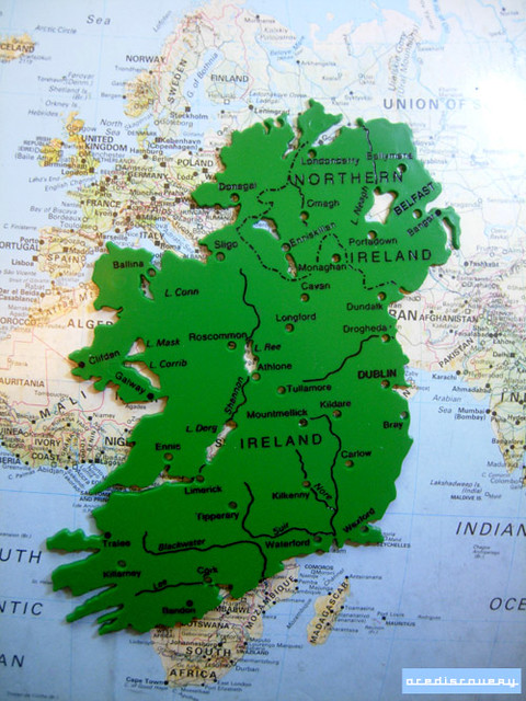 Map stencil of ireland used in classrooms to help draw map flickr acediscovery map stencil of ireland by adrian acediscovery gumiabroncs Gallery