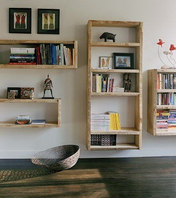 hanging exposed wood bookshelves kathryn schoendorf flickr