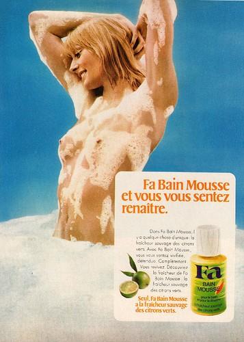 70s ad : Fa shower gel   source : Femmes d'aujourd'hui ...: https://www.flickr.com/photos/addie-moi-oui/4581453976/