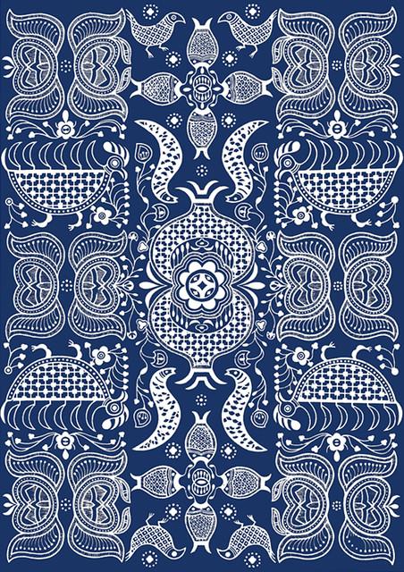 chinese indigo design ln breut flickr. Black Bedroom Furniture Sets. Home Design Ideas