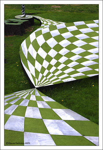 Geometric design in the garden of cosmic speculation flickr for Geometric garden designs