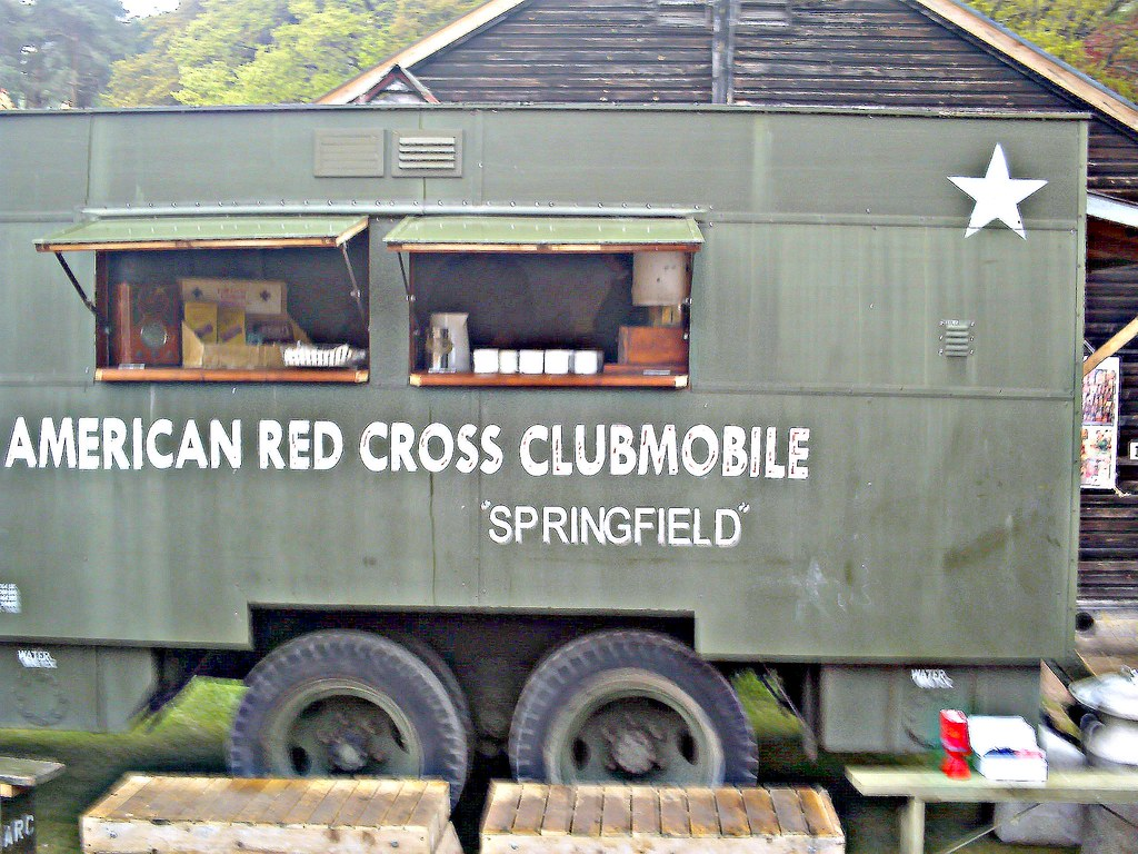 American Red Cross Clubmobile Gmc Cckw 353 Used By The