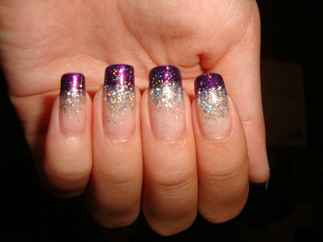 Purple Glitter Gradient | Tips are Zoya - Yasmeen, and the ...