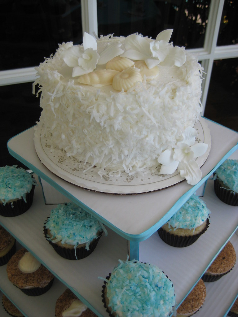 Beach Themed Cupcake Tower Beach Themed Cupcake Tower
