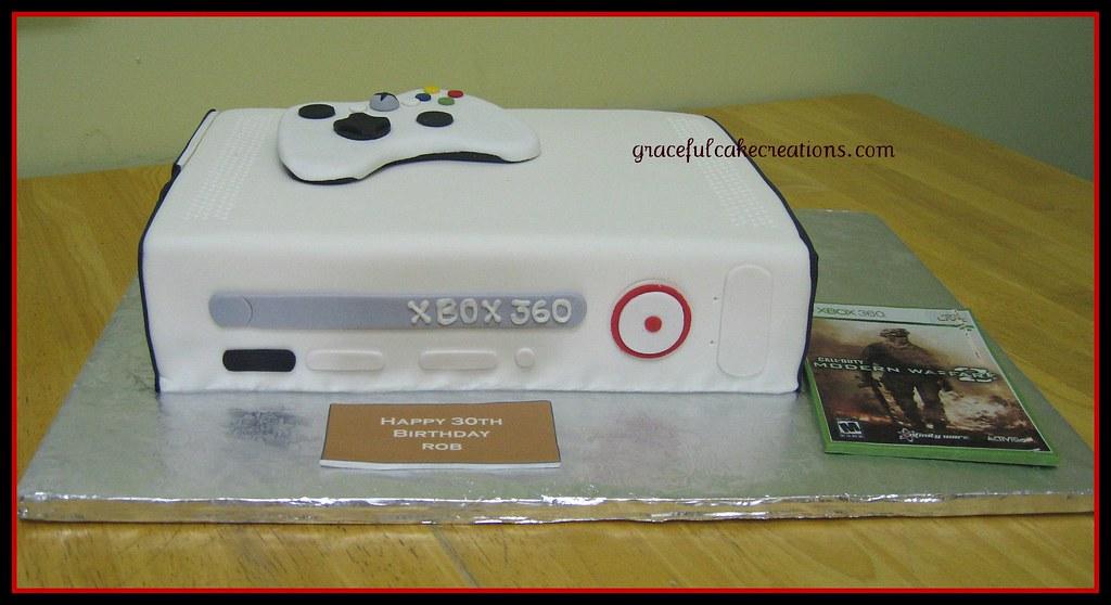 White Xbox Cake