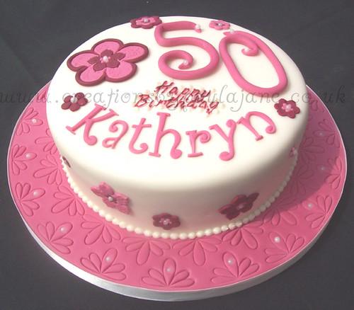 Birthday Cake For Zeny ~ Pink flowery th birthday cake creationsbypaulajane c flickr