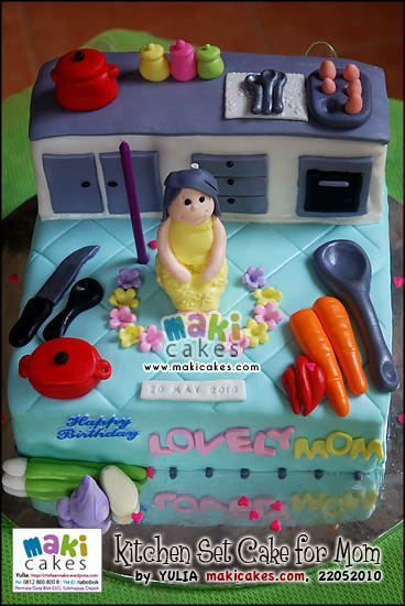 Kitchen Set Cake For Mom Maki Cakes Yulia Riani Flickr