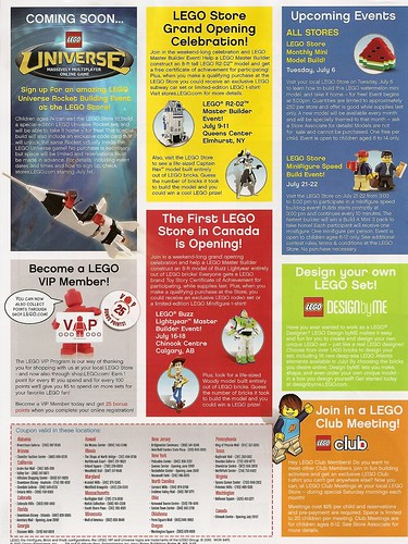 Lego Store Calendar July 2010 (Back) | by yellowcastledujour