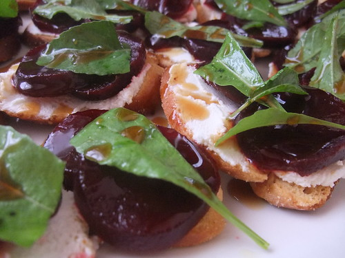 Beet and Goat Cheese Crostini | by swampkitty