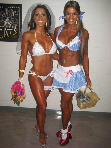 WBFF Diva Fitness Models Julie Bonnett and Diana Chaloux ...