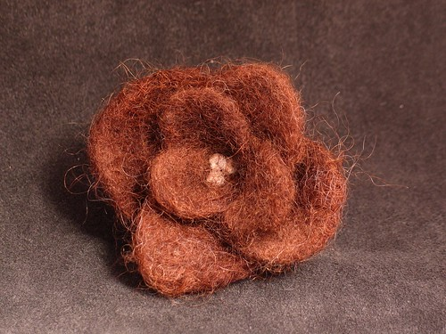 Needle Felted Brown Rose | by nchase_2000