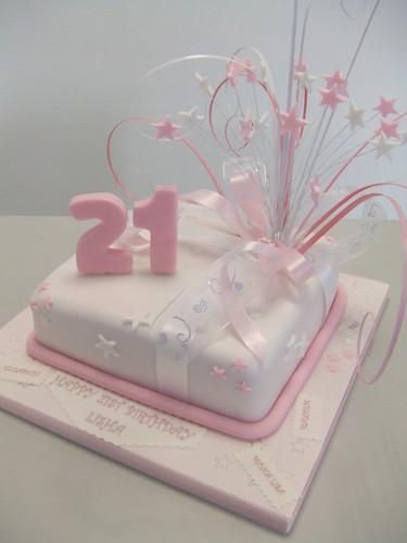 Cake 21st Pink Birthday Jules Made This Pretty Pink Cake