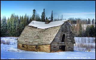 HDR #368 Log Barn - Winter Version | by Pete's Photo Magic