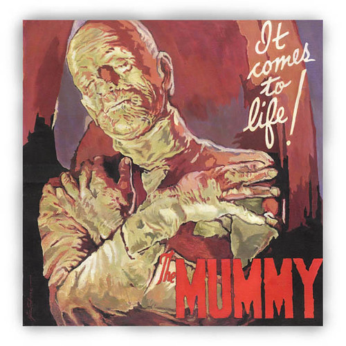 BORIS KARLOFF - THE MUMMY : u0026quot;The Mummyu0026quot; - Original acrylic ...