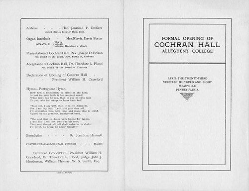 Coch-Opening-Program-Out2 | by Allegheny College