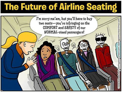 Cartoon: The Future of Airline Seating | by M1khaela