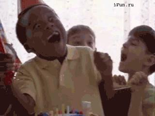 269crazyblackkidsurprisebirthday funnyanimatedgifs