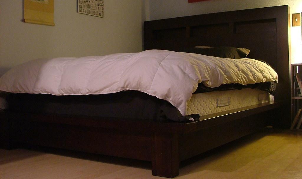 Bedframe For Sale Dania Dark Wood Platform Bed Frame For