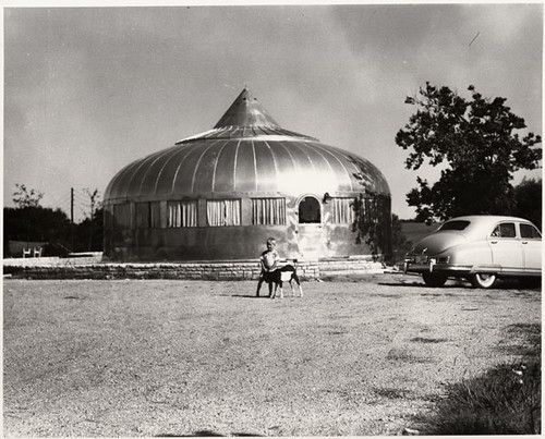 Buckminster fuller 39 s wichita dymaxion house exterior fron flickr for Designers home gallery wichita