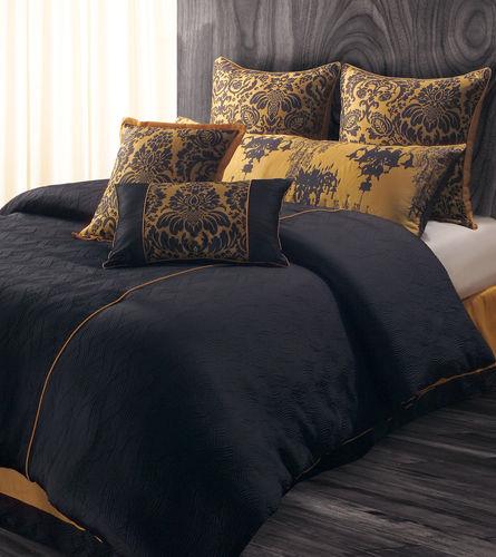 9pc luxury bedding set bed in a bag comforter sets black g flickr - Black and gold bedroom set ...