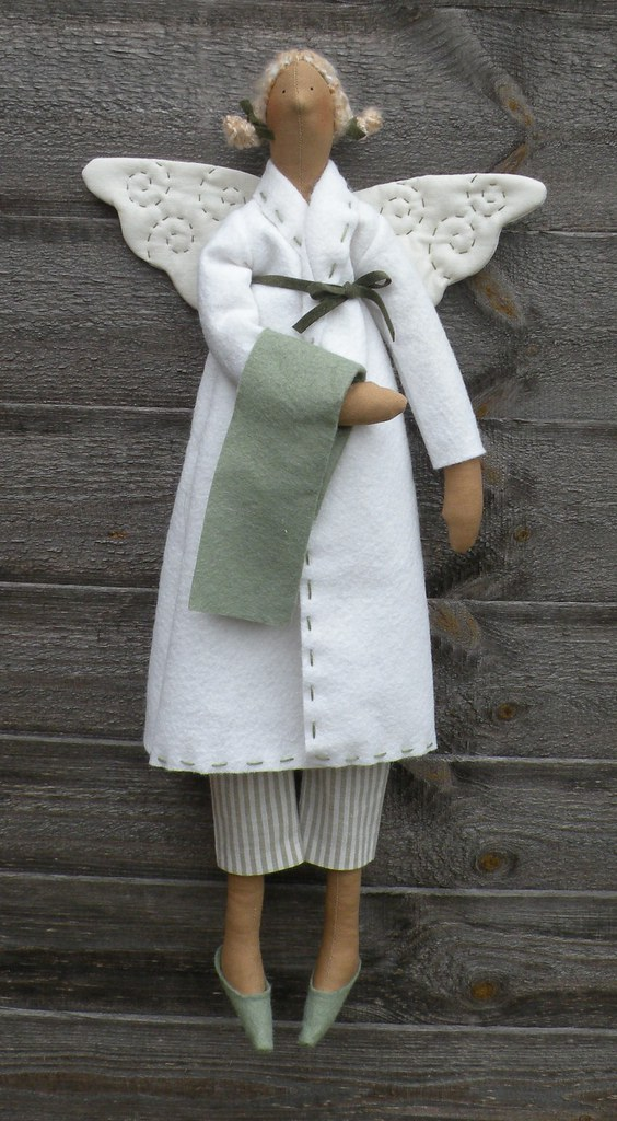 Tilda Bathroom Angel Sage Green Tilda Angel In Sage