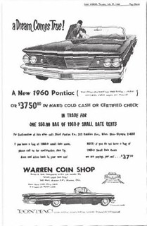 Coin World 1960 Pontiac ad | by Numismatic Bibliomania Society