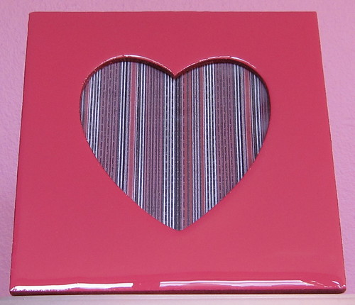 Heart Picture Frame Painted in Hot Pink with Pink Glitter | by photojeanie