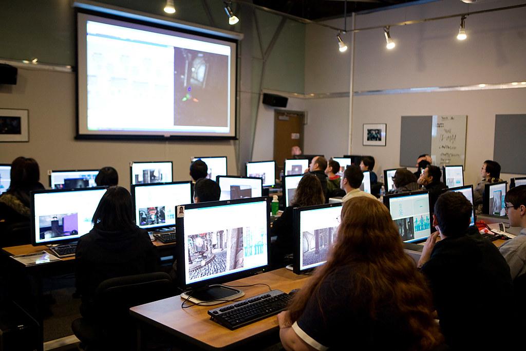 Open Classroom Design ~ Game design open house attendees
