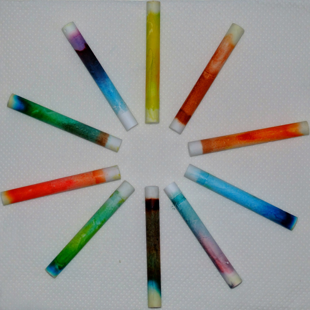 chalk chromatography | Using food dyes and alcohol. www ...