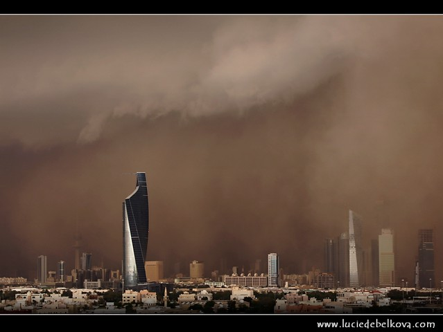 kuwait al sarrayat sand storm over kuwait city join me o flickr. Black Bedroom Furniture Sets. Home Design Ideas
