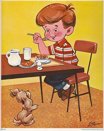 Vintage Classroom Poster - Boy Eating Breakfast | I found ...
