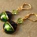 Green and Blue Venetian Glass Earrings
