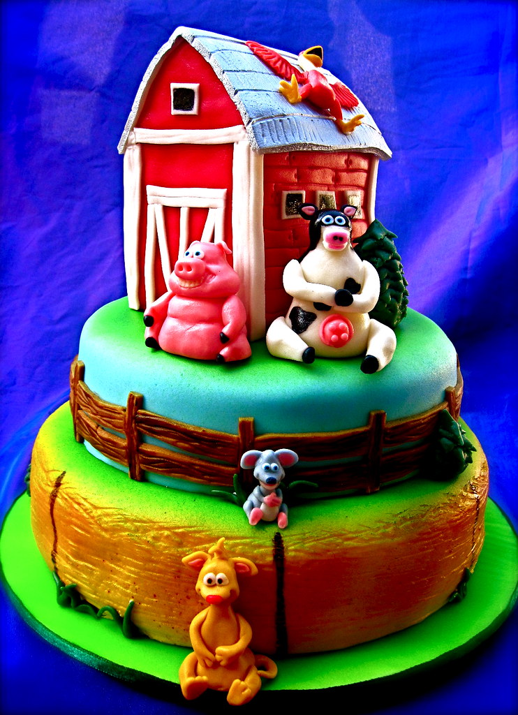 Barnyard Animals Cake The Ladygloom Flickr