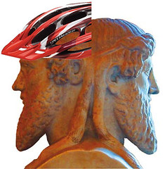Janus in a bike helmet | by carltonreid